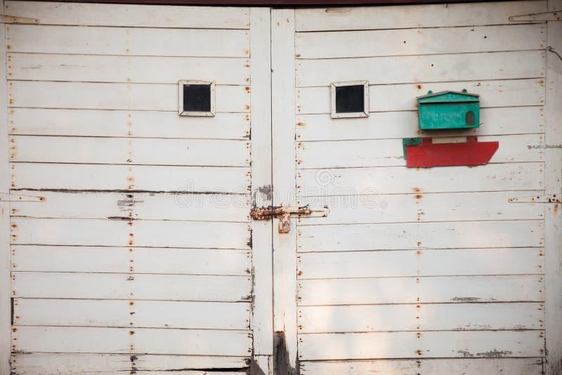 stary drzwi garażu fotografia stock