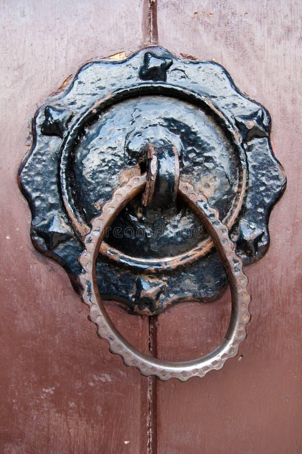 stary drzwiowy knocker fotografia royalty free