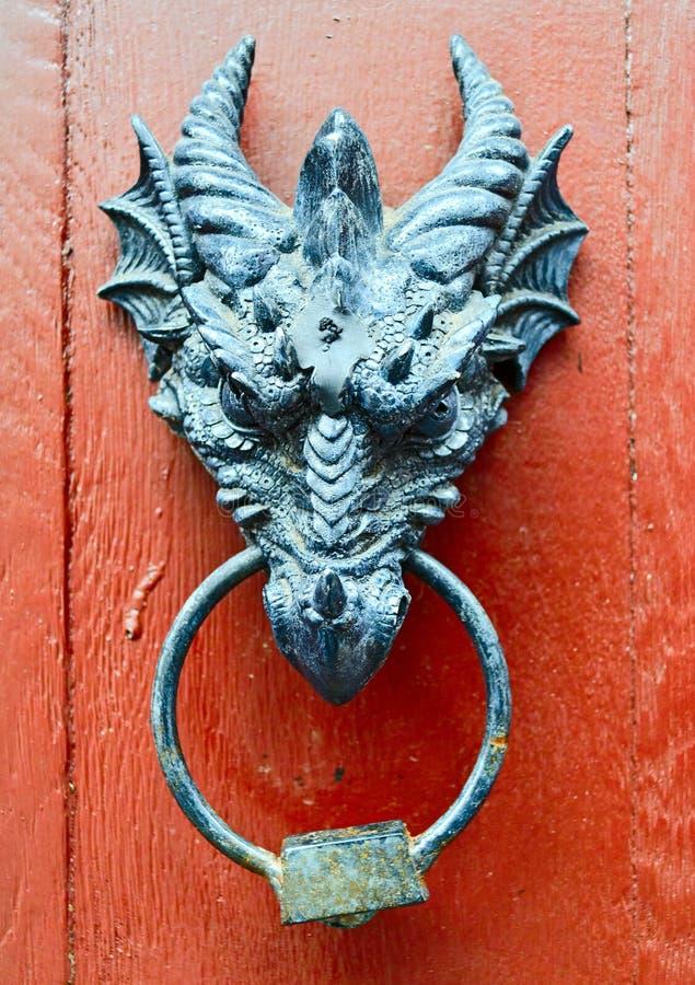 Stary drzwiowy knocker zdjęcie royalty free