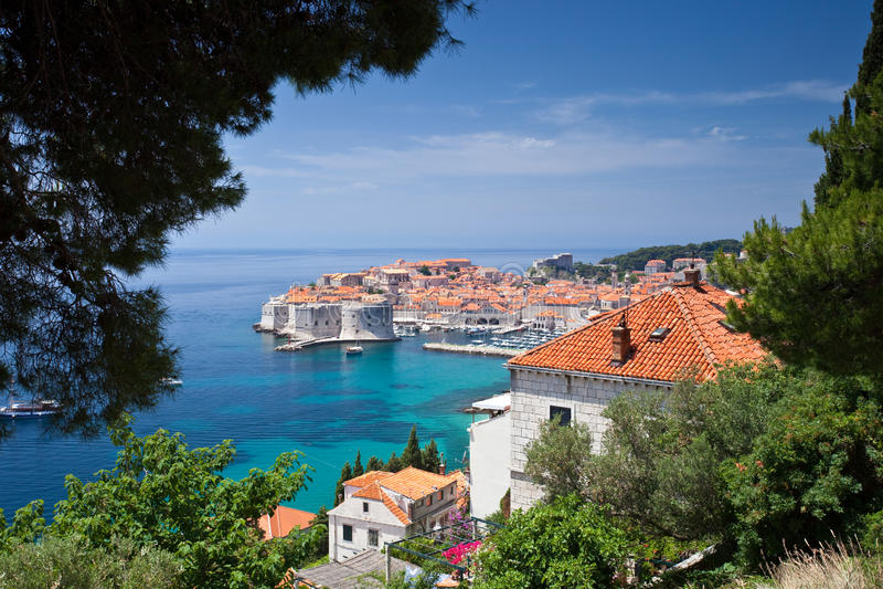 stary Dubrovnik miasteczko fotografia stock