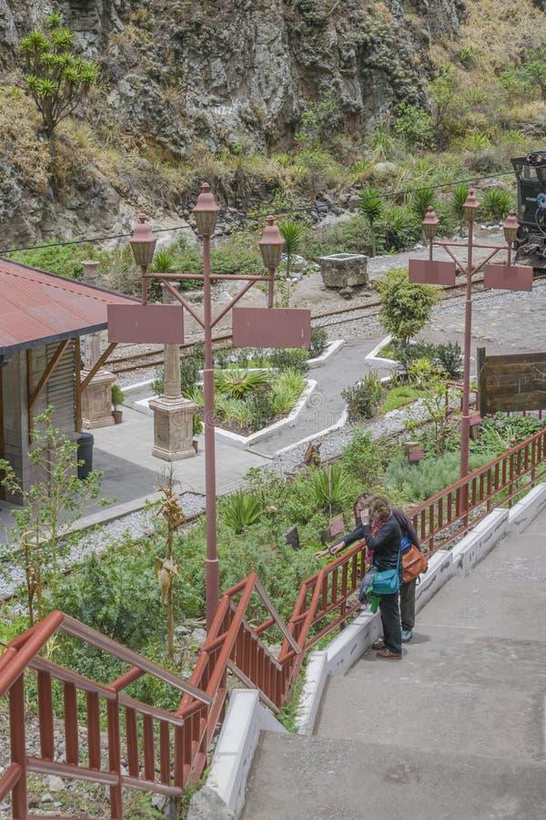 Stary dworzec Alausi Ekwador fotografia royalty free