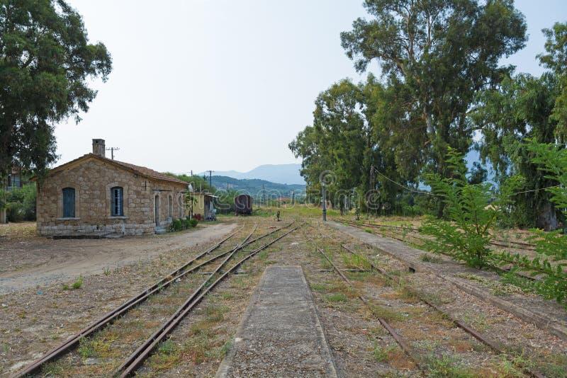Stary dworzec w Grecja zdjęcie royalty free