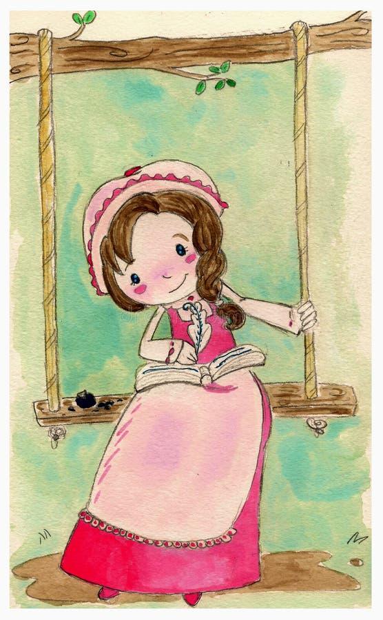 stary dziewczyna styl ilustracji