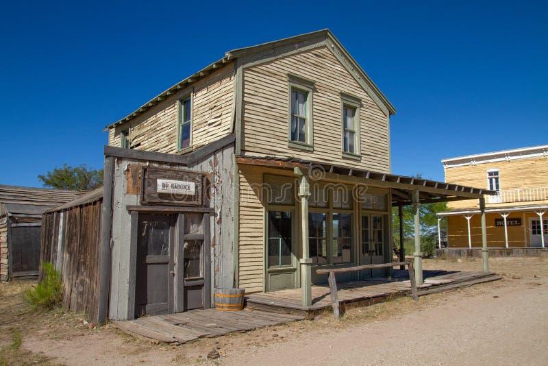 Stary Dziki Zachodni Grodzki plan zdjęciowy w Arizona obrazy stock