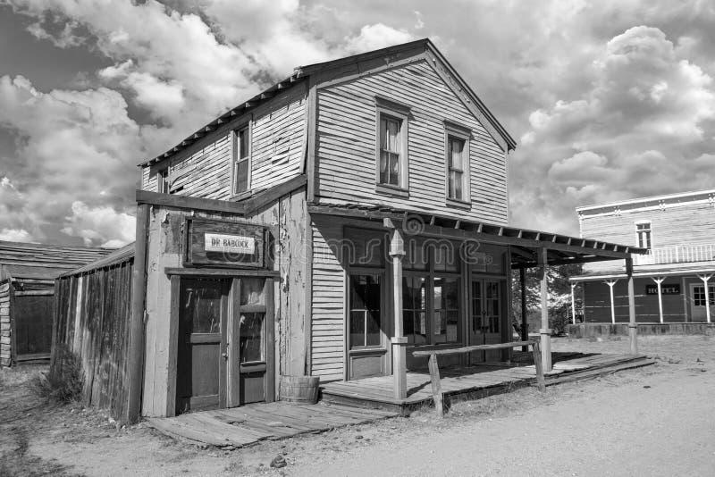 Stary Dziki Zachodni Grodzki plan zdjęciowy w Arizona fotografia stock