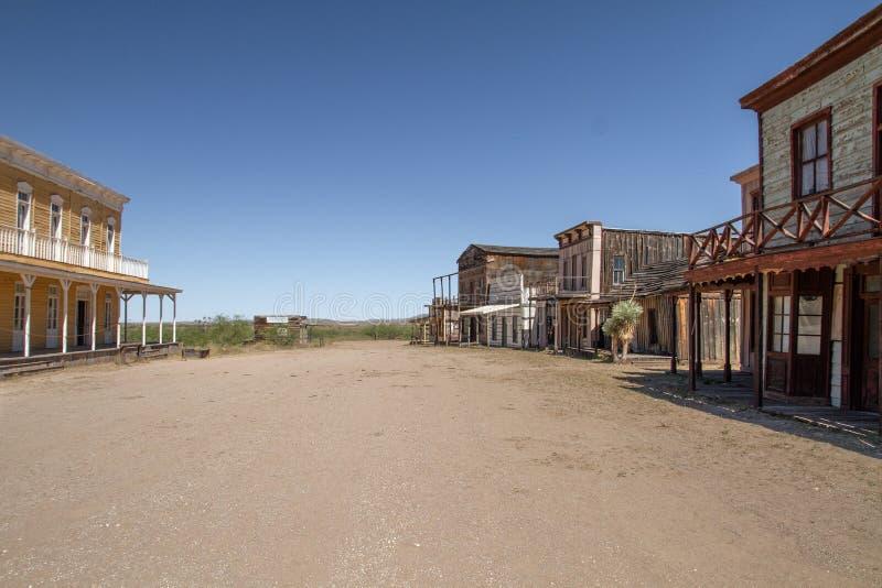 Stary Dziki Zachodni plan zdjęciowy w Mescal, Arizona zdjęcie royalty free