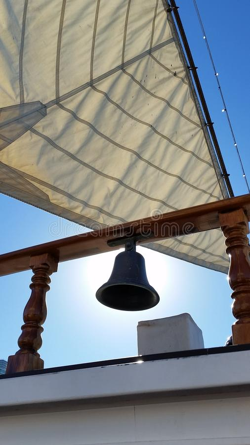 Stary dzwon na statku zdjęcie stock