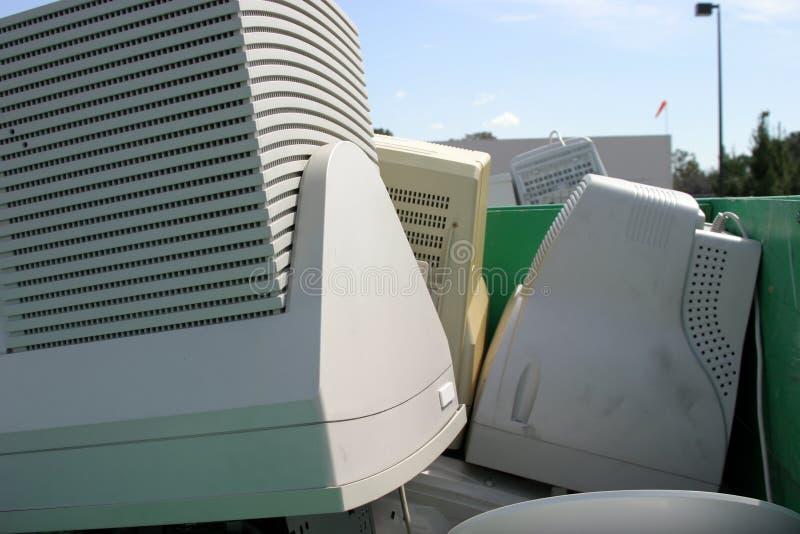 stary e komputerów elektronika odpadów obraz royalty free