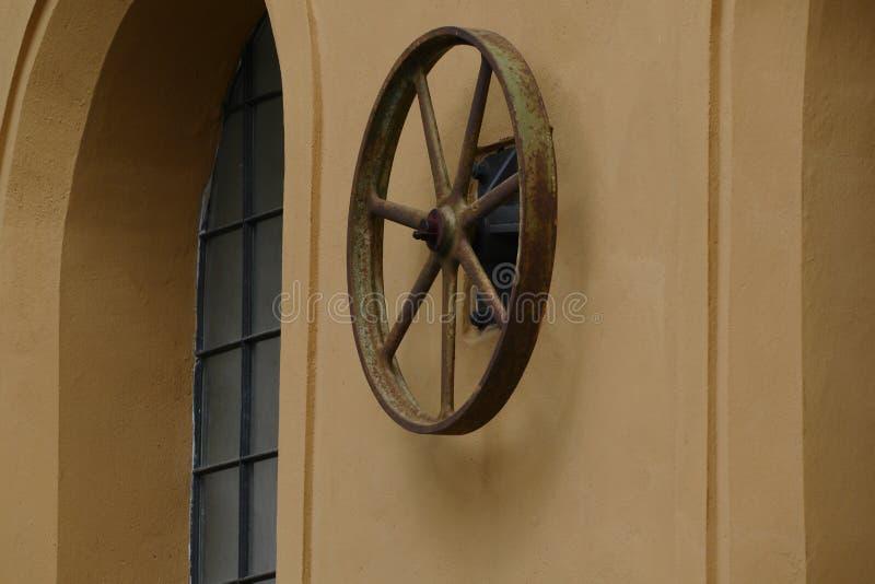 Stary elektrowni pulley zdjęcie stock