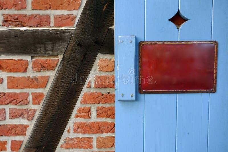 Stary emalia znak, metalu znak, informacja znak zdjęcia stock