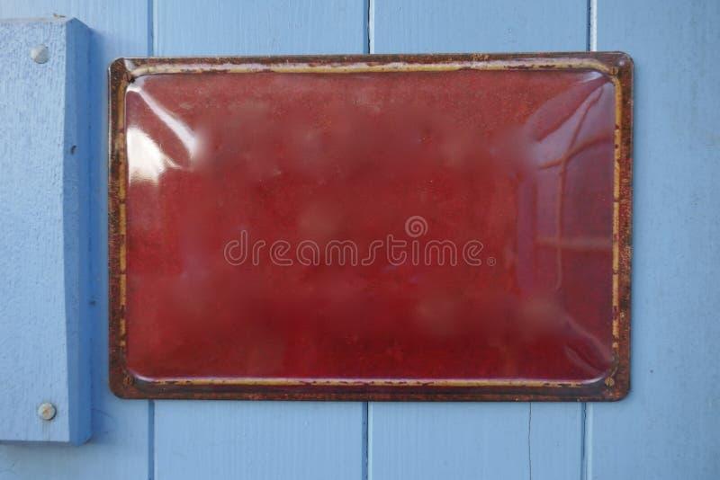 Stary emalia znak, metalu znak, informacja znak zdjęcie royalty free