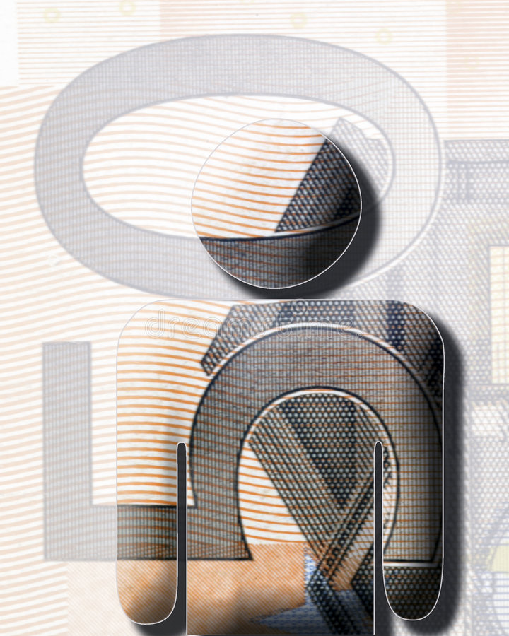stary euro ilustracji