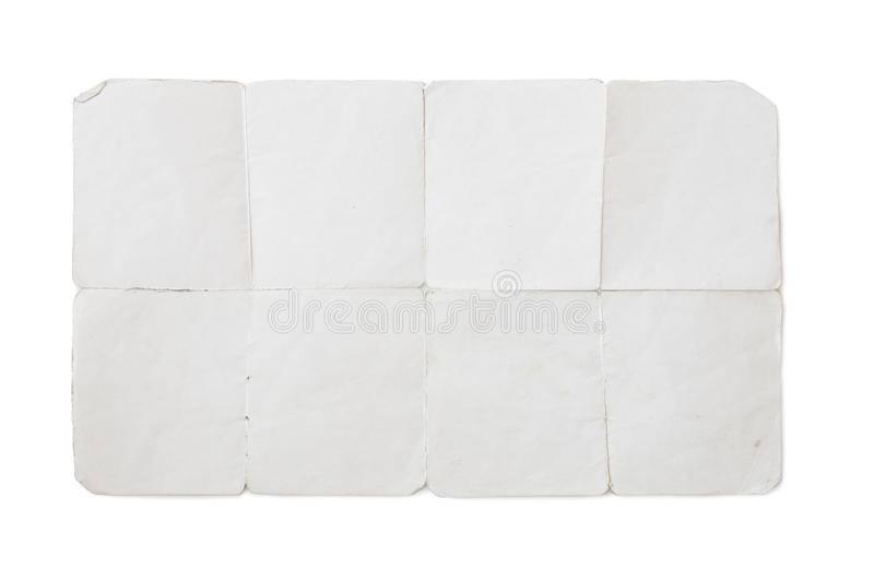 Stary fałdowy papier z ścinek ścieżką zawierać obraz royalty free