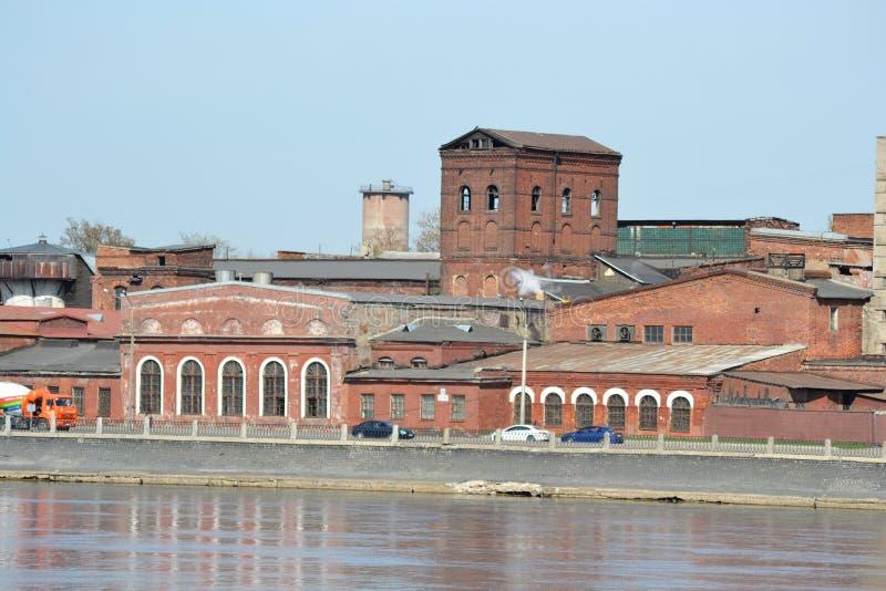 Stary fabryczny budynek, st. Petersburg obraz royalty free