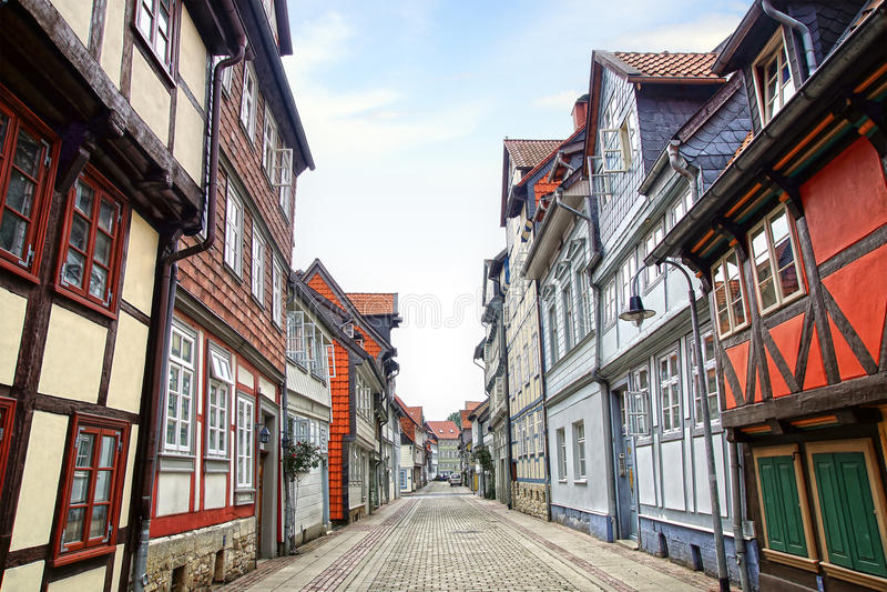 Stary Fachwerk dom w Wolfenbuttel. zdjęcia stock