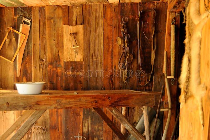 stary farmy wnętrze zdjęcia royalty free