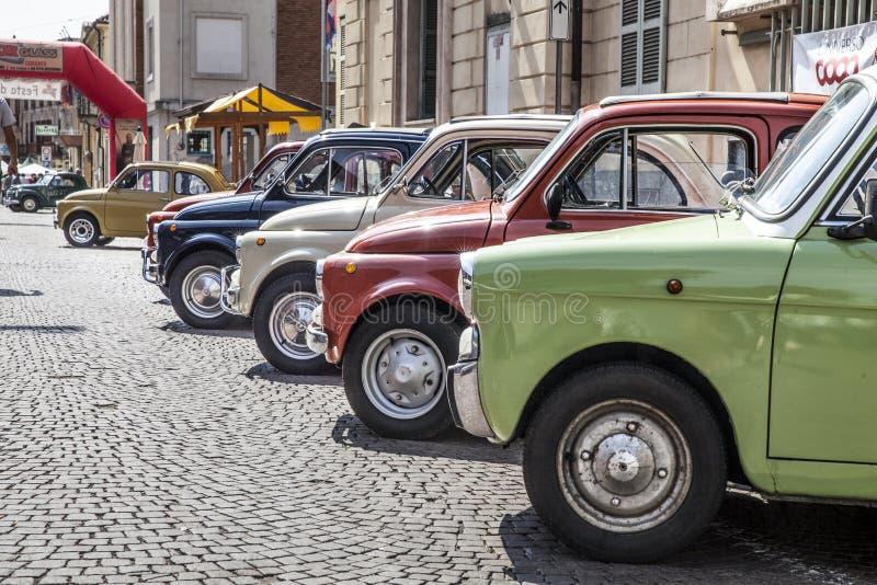 Stary Fiat 500 fotografia stock