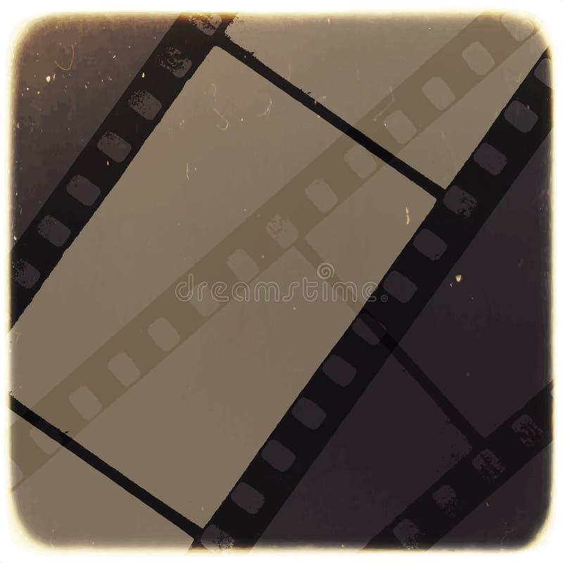 Stary Filmstrip abstrakta tło wektor royalty ilustracja