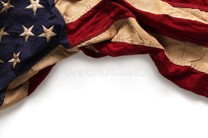 Stary flaga amerykańskiej tło zdjęcie stock