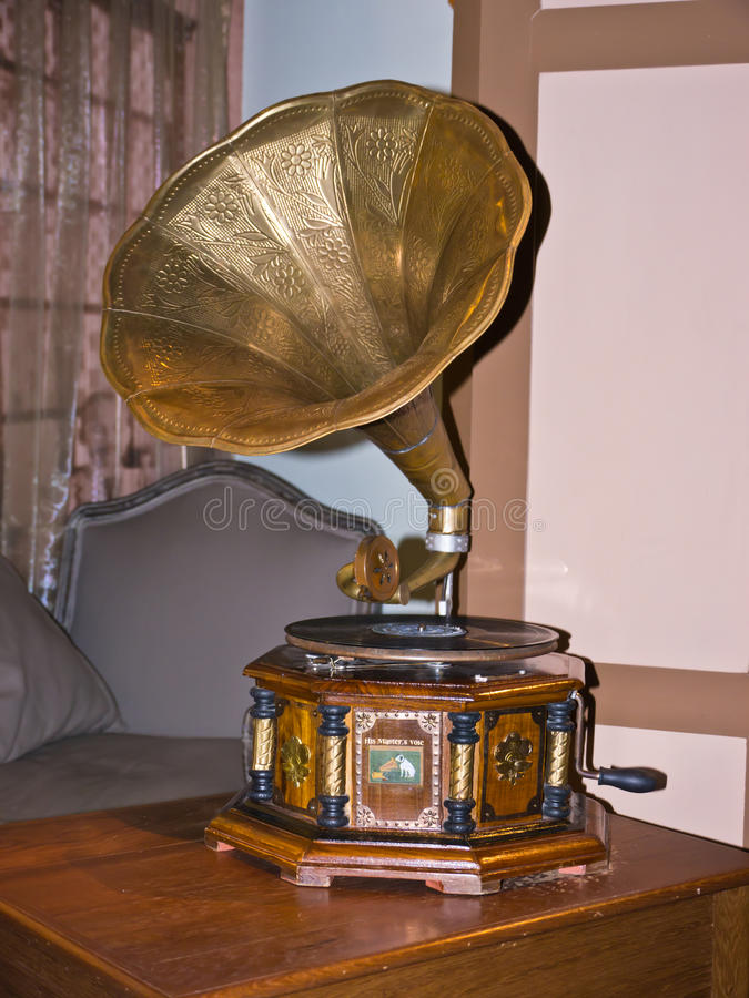 Stary fonograf fotografia stock