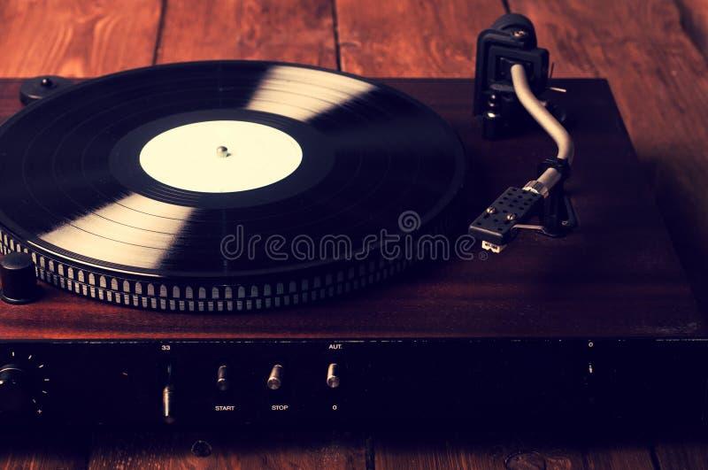 Stary fonograf i gramofonowi rejestry zdjęcie stock