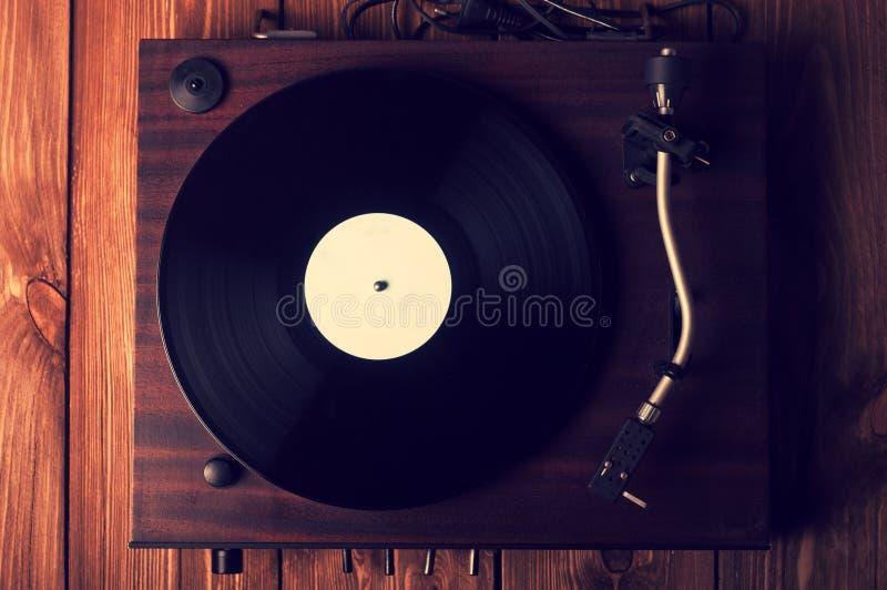 Stary fonograf i gramofonowi rejestry obrazy stock