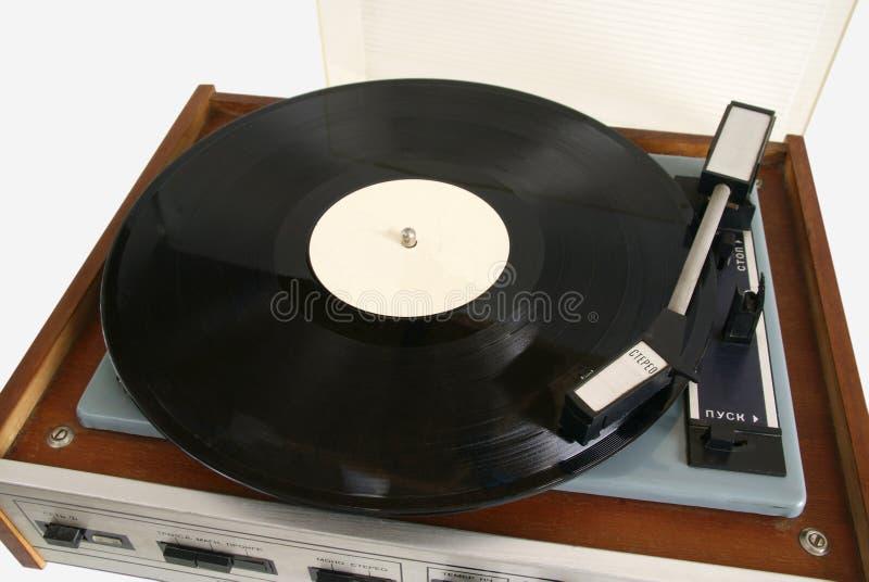 stary fonografu gracza rejestr obraz stock