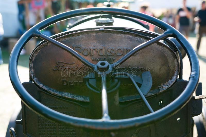 Stary Fordson ciągnikowy szczegół obrazy stock