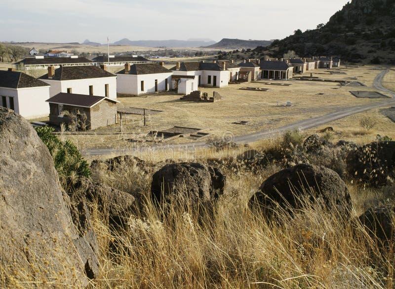 stary fort davis obrazy stock