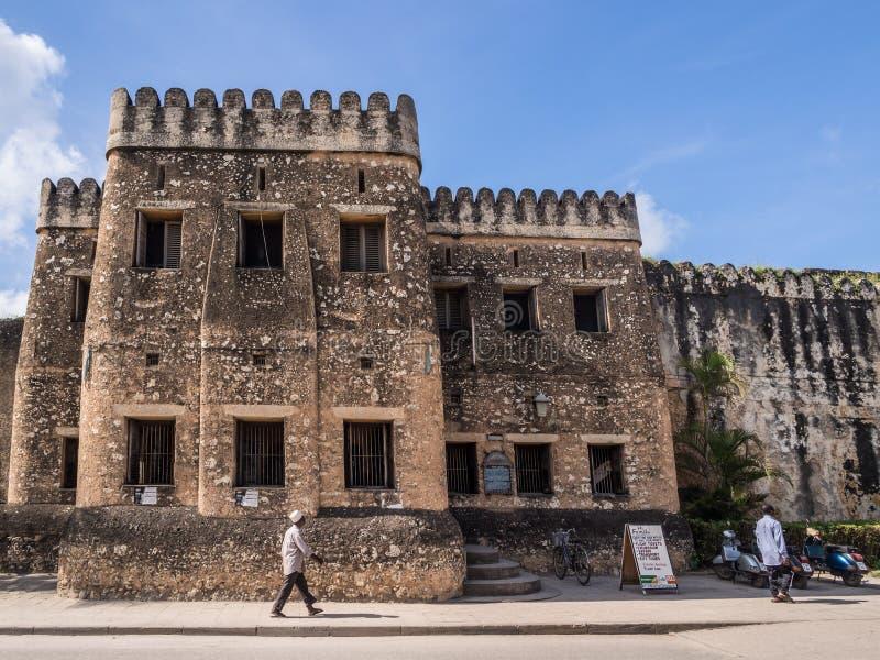 Stary fort w Kamiennym miasteczku, Zanzibar (Ngome Kongwe) obraz stock