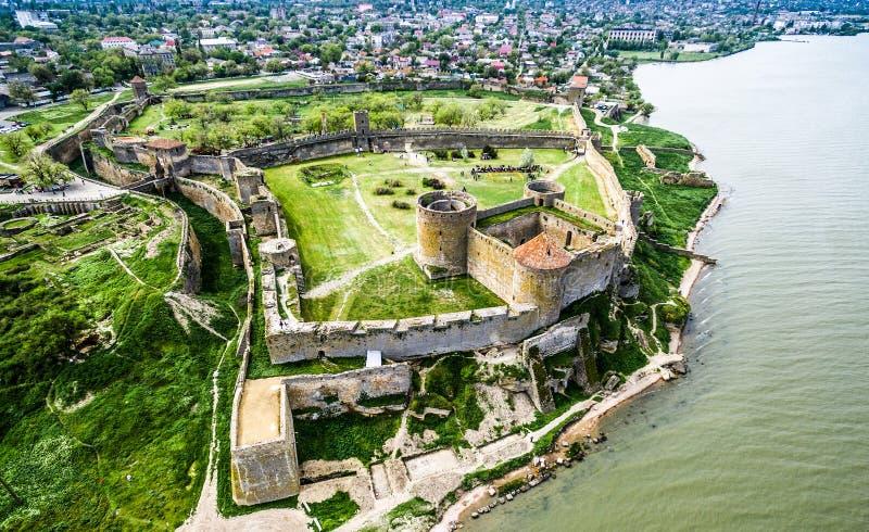 Stary forteca w Dniester, Ukraina obrazy stock