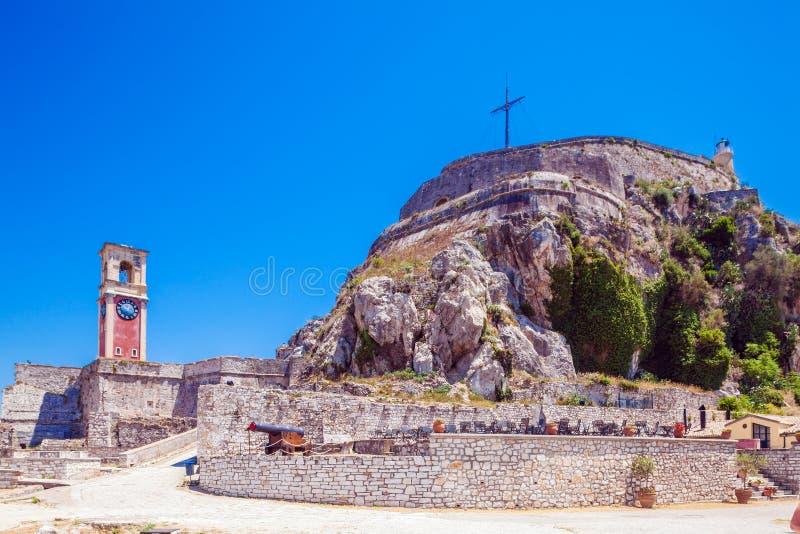 Stary forteca w Kerkyra, Corfu obrazy royalty free