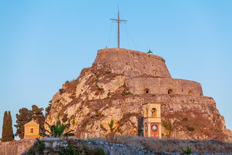 Stary forteca w Kerkyra, Corfu fotografia stock