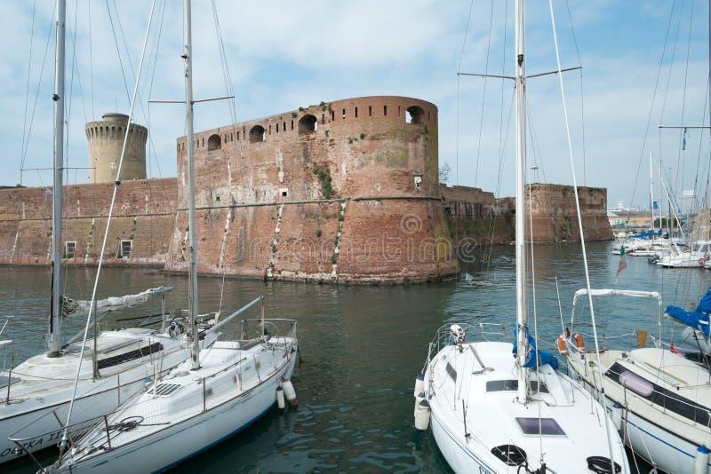 Stary forteca w Livorno miasteczku obraz stock