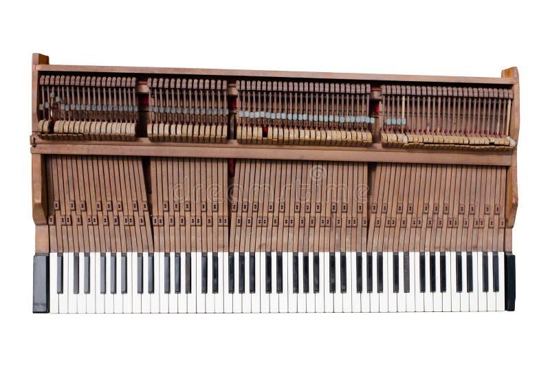 Stary fortepianowy mechanik zdjęcie stock