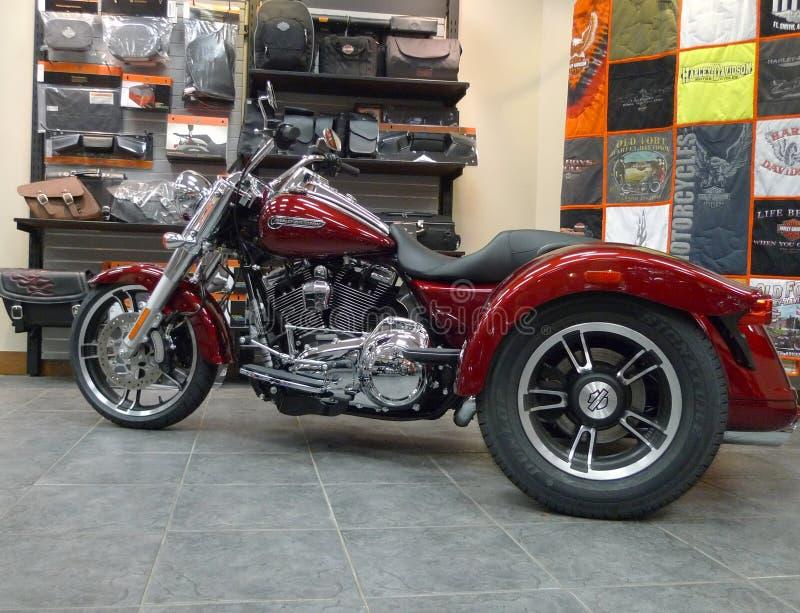 Stary fortu Harley Davidson sklep detaliczny Trike fotografia royalty free