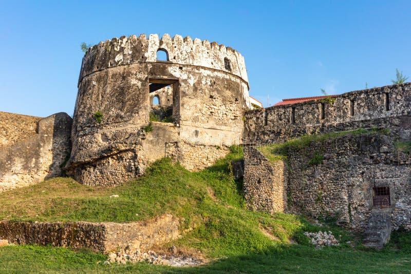 Stary fortu Ngome Kongwe kamień Grodzki Unguja Zanzibar Tanzania zdjęcie royalty free