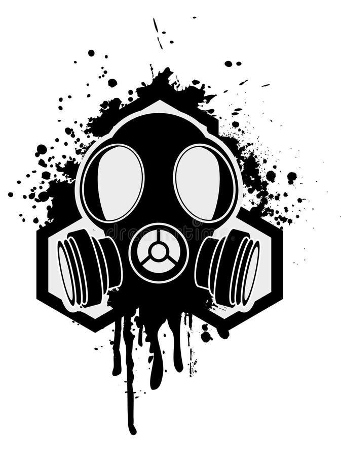 stary gazowy maski morza royalty ilustracja