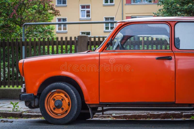 Stary GDR Trabant samoch?d zdjęcie royalty free