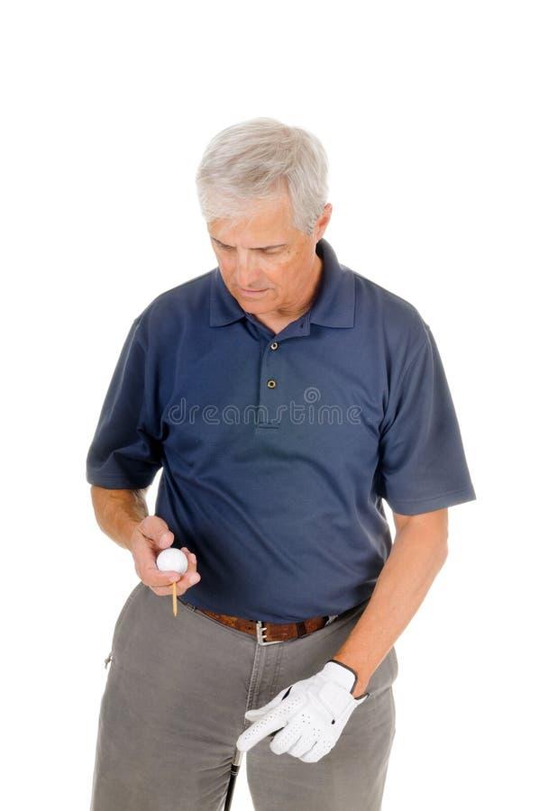 Stary golfista zdjęcie royalty free