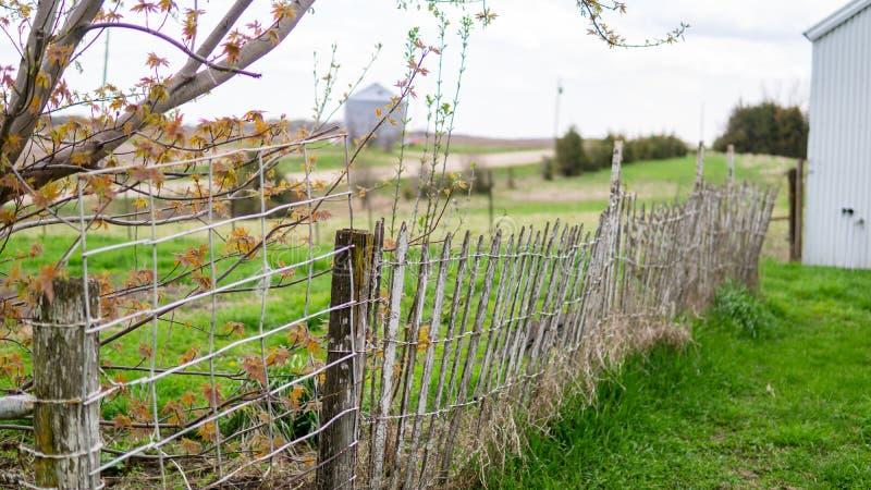 Stary gospodarstwa rolnego ogrodzenie obraz stock