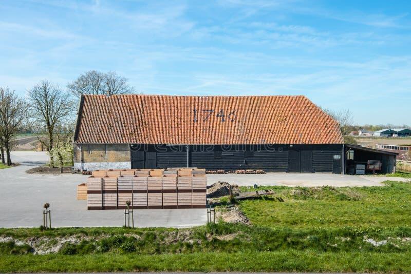 Stary gospodarstwo rolne od roku 1746 zdjęcie stock