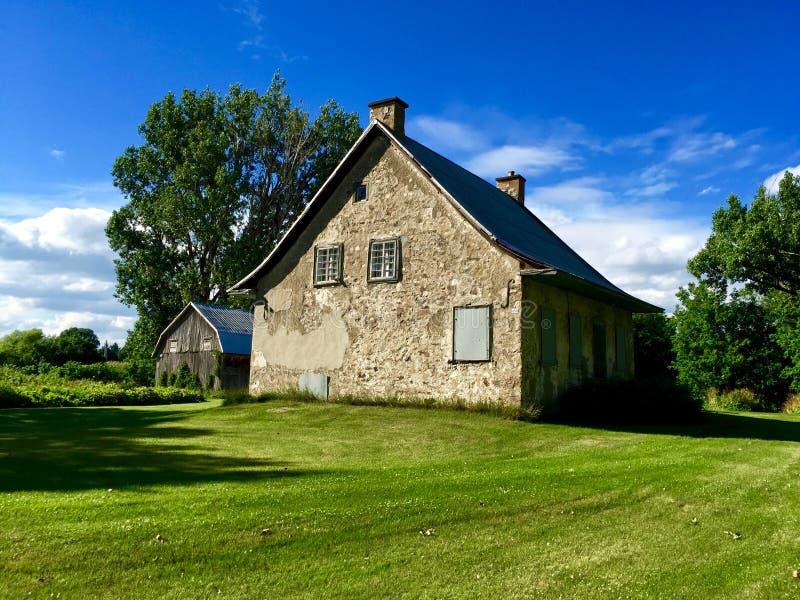 Stary gospodarstwo rolne w Quebec Kanada zdjęcie stock