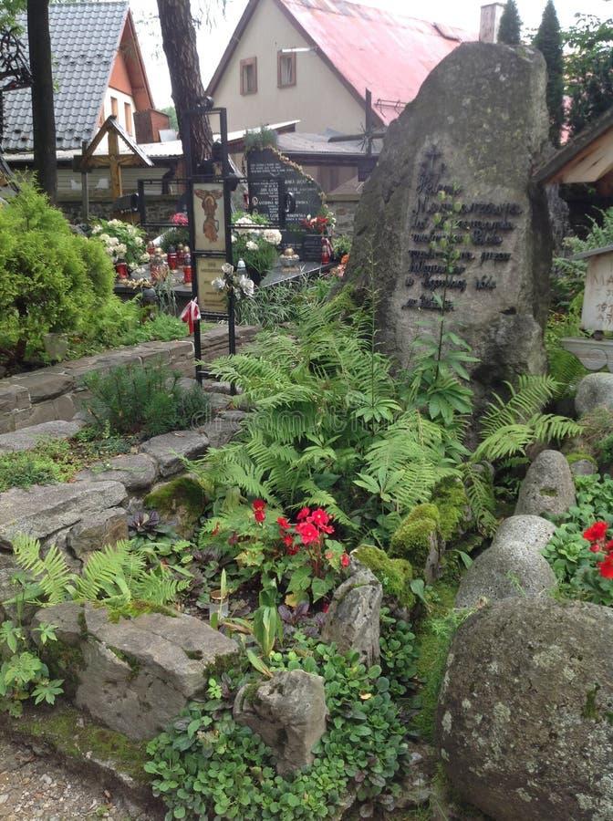 Stary grób w Zakopane, Polska obrazy stock