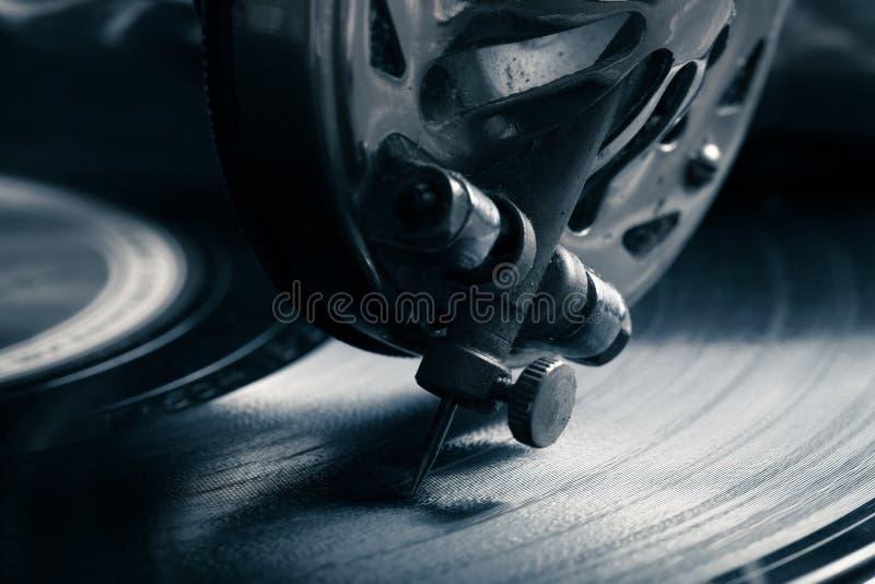 Stary gramofon zbliżenia eyedroppers wysoka rozdzielczość prawdziwy widok stonowany obrazy royalty free