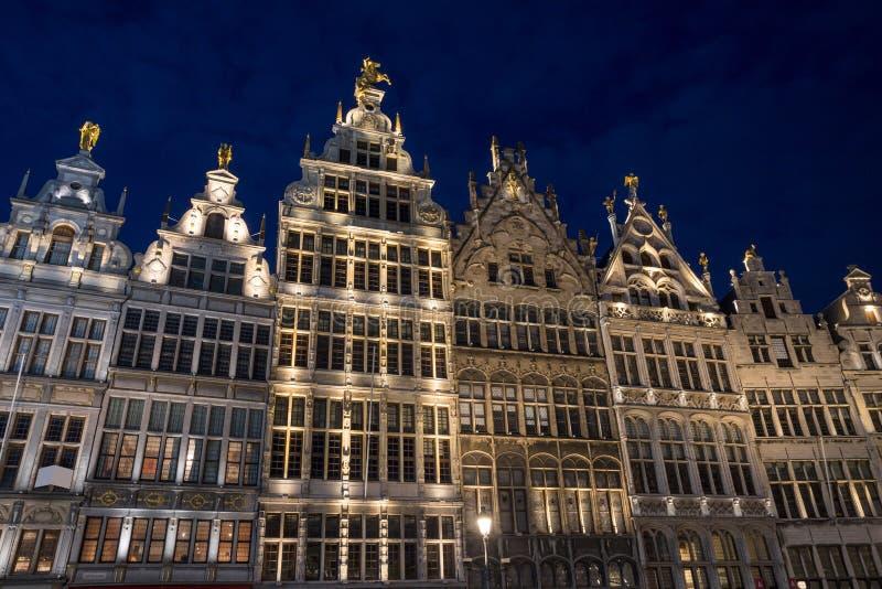 Stary grodzki Antwerp Belgium w wiecz?r zdjęcie royalty free