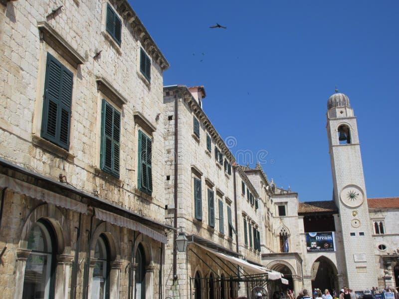Stary grodzki Dubrovnik dzwonkowy wierza obraz royalty free