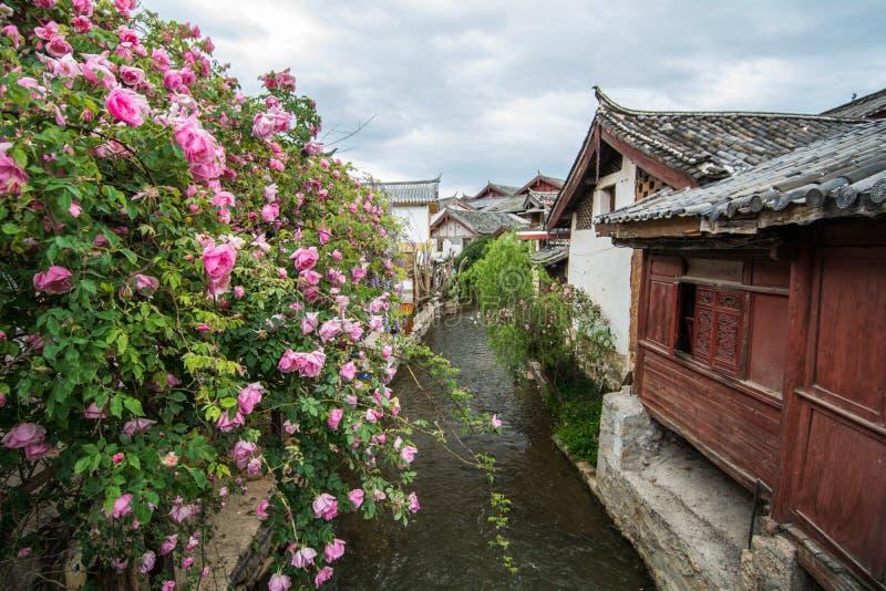Stary grodzki Lijiang dom fotografia royalty free