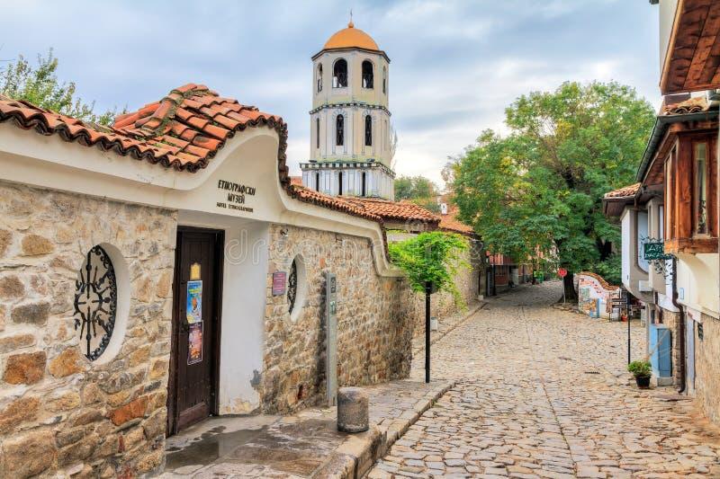 Stary grodzki Plovdiv ulicy widok fotografia stock
