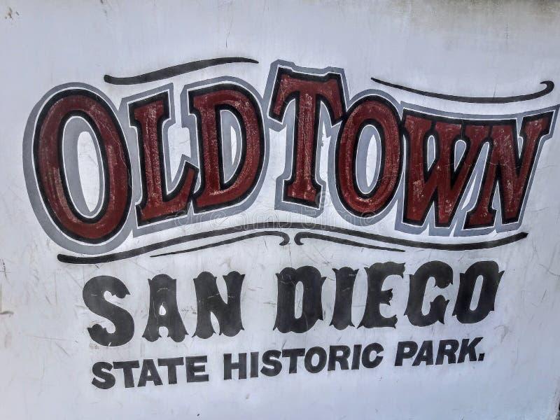 Stary Grodzki San Diego stanu Historyczny park obraz stock